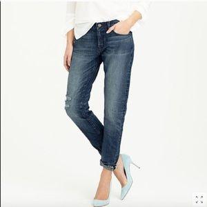 J. Crew Slim Broken In Boyfriend Jeans
